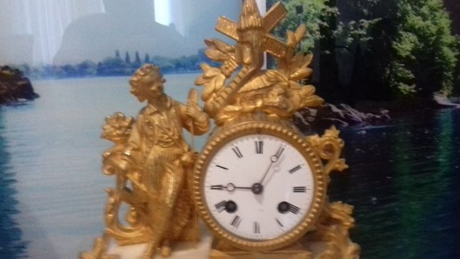 Часы каминные конца 19-века, Германия.