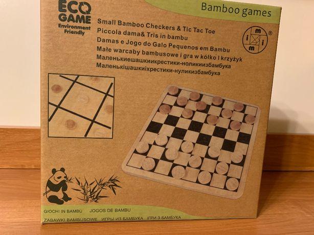 Ekologiczne bambusowe warcaby