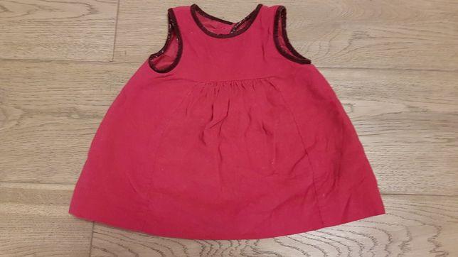 Sukienka Zara 74 6-9mcy
