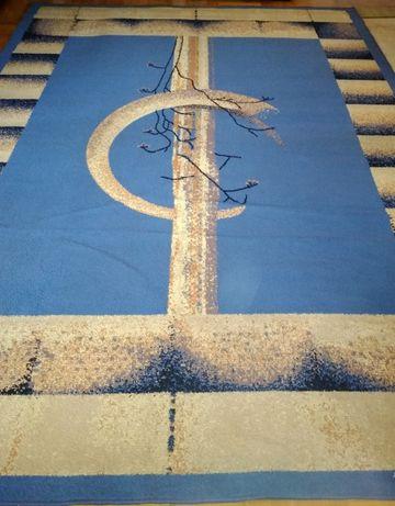 Sprzedam niebieski duży dywan 260x360 cm
