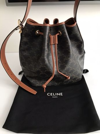 Сумка шопер Celine Drawstring bag triomphe louis chanel new original