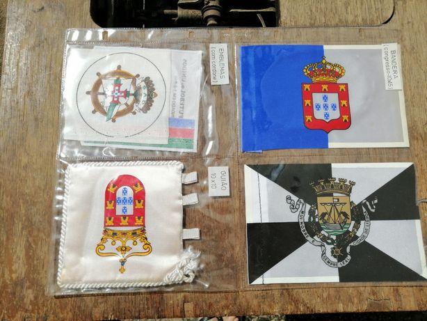 Coleção de bandeirinhas e emblemas