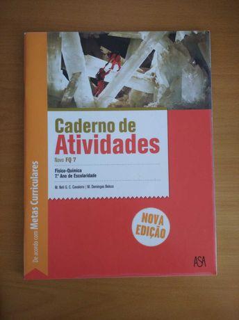 """Caderno de atividades """"Novo FQ 7""""- Físico-química de 7º ano"""