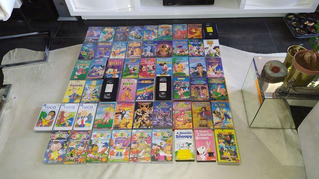 Vhs infantis desenhos animados Disney, Pixar etc...
