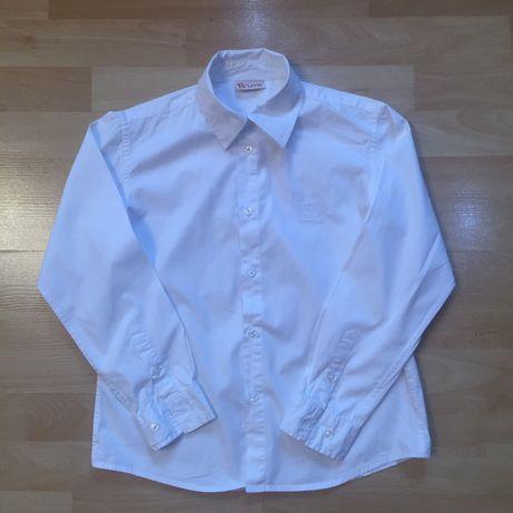 Качественная рубашка, бїла сорочка на ріст 134 -140 см на 7-9 років