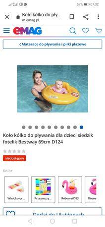 Koło kółko do pływania dla dzieci siedzik fotelik BESTWAY