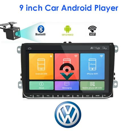 Auto-Rádio 2 Din 9'' Vw/Skoda/Seat - Android 9.0+1/16-2/32GB - Novos