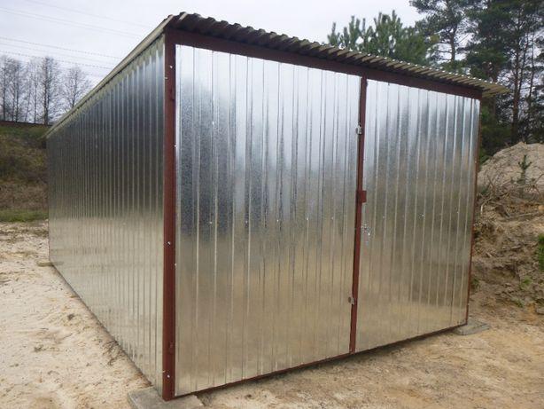 Garaż blaszany 3x4 Blaszak Schowek na budowę Garaże blaszane PRODUCENT