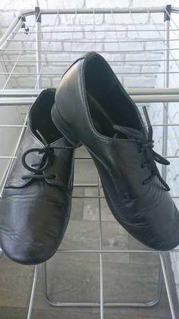Кожаные туфли на мальчика для спортивно-бальных танцев 18.5 см