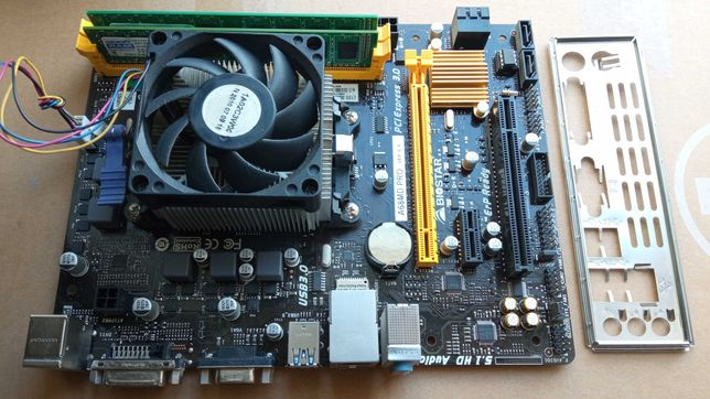 Biostar A68MD PRO Ver.6.0+AMD Athlon X4 840, 3100-3700 MHz+4Gb, sFM2+