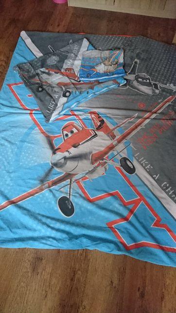 Pościel bawełniana Samoloty roz 140x200 kpl 3 el