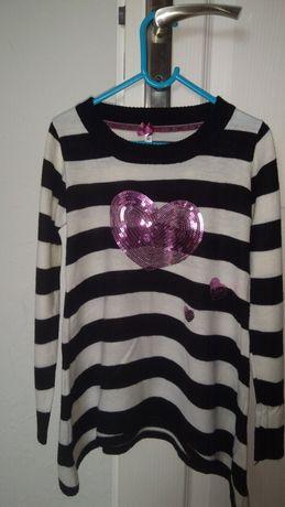 Śliczny sweterek,tunika ,sukienka ,128-134