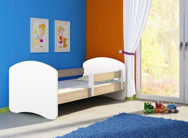 Łóżko łóżeczko dziecięce białe, bez nadruku 140x70
