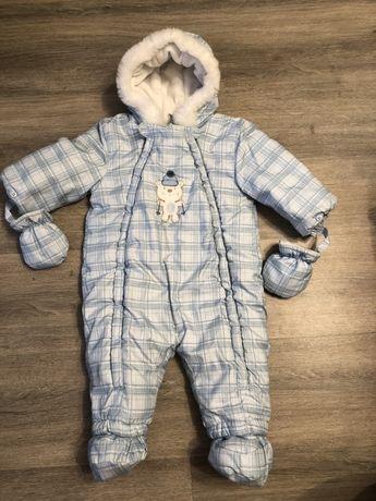 Детский зимний комбинезон (размер 6-9 месяцев, 68-80см )
