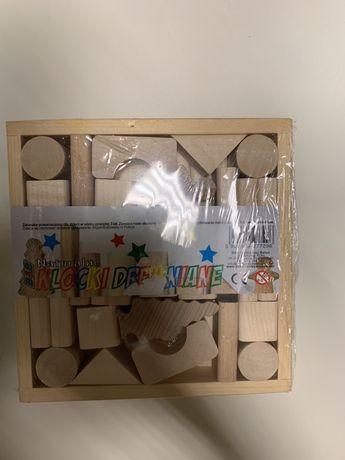 Klocki drewniane Naturalne zabawka