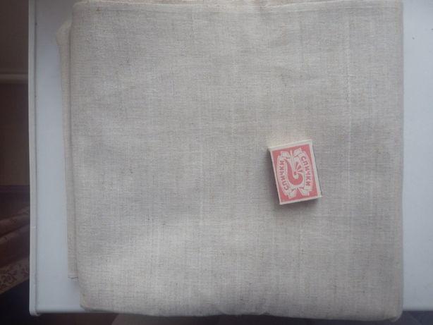 Льняная ткань, плотная. Производство СССР. Цена за погонный метр.