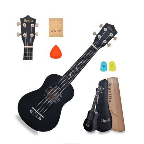 Укулеле сопрано(гавайская гитара) APELILA (Чехол+Струны+Медиатор) -17%