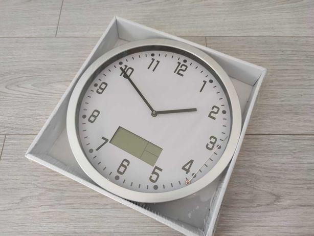 Zegar Ścienny smukee home z termometrem i kalendarzem