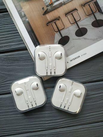 Наушники Apple EarPods 3,5mm с микрофоном (aux jack) новые, есть много