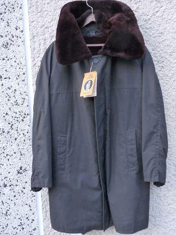UNIKATOWY płaszcz kurtka z okresu PRL z oryginalną metką i podpinką