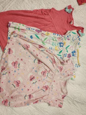 Trzy wiosenne letnie sukienki dla dziewczynki 86 f&f