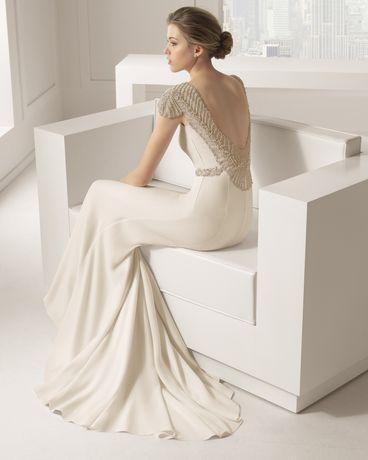 Vestido de noiva Rosa Clará Saboya como novo
