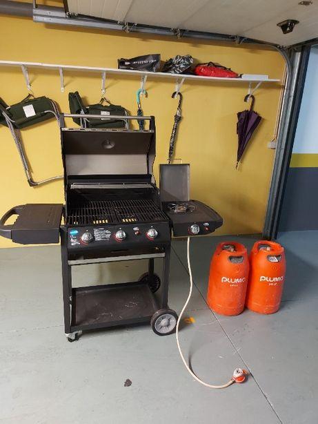Grelhador e fogão a gás + oferta 2 garrafas de gás Pluma