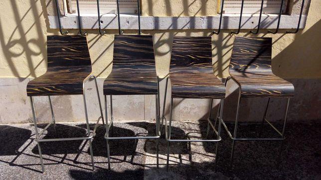 Cadeiras altas design italianas bar ilha balcão