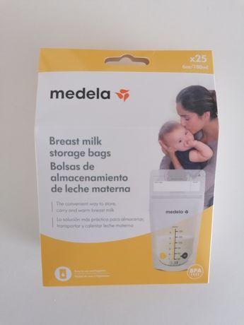 25 sacos de congelação de leite Medela