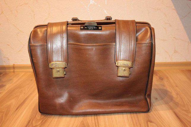 винтажный ,кожаный ,ретро, портфель,СССР