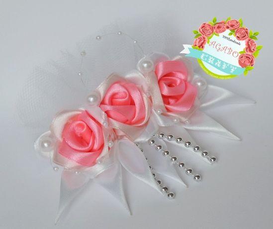 Ozdoba do włosów ślub druhna róże