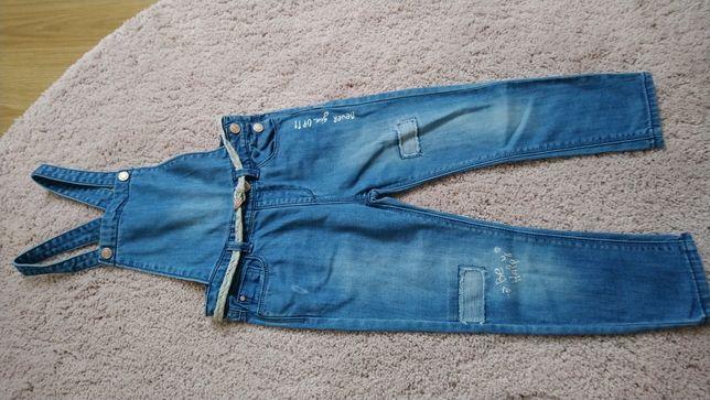 Zara 104 ogrodniczki jeans