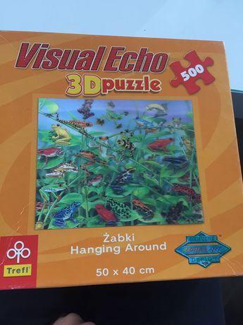 Puzzle 500 Visual Echo 3D - Żabki