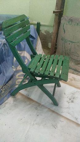 Стул деревянный складной Бунгало зеленый 38 шт