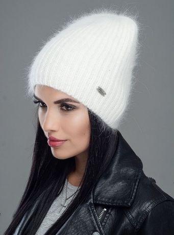 Теплая ангоровая женская шапка
