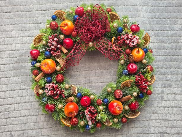 Wianek świąteczny kolorowy 45 cm