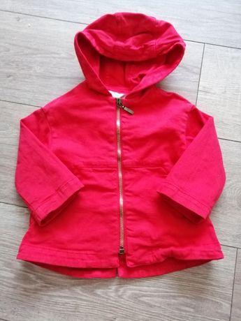 Katana kurtka płaszczyk czerwony Zara rozmiar 80