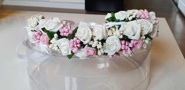 Piękny, delikatny wianek - ślub, komunia