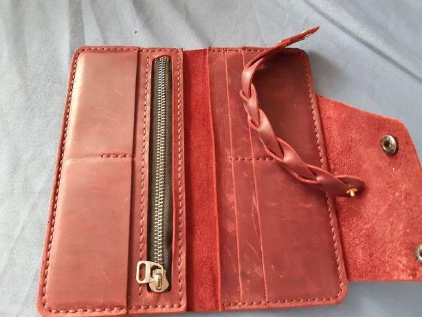 Натуральная кожа, кожаный кошелек и сумка кожа.зам обмен