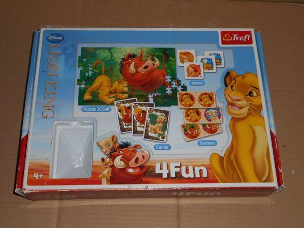 Lion King -игра 3 в одном Домино ,карты мемо