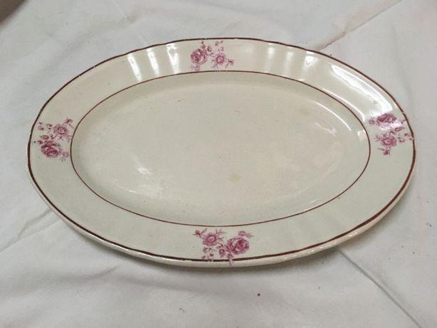 Loiça de Sacavém antiga - pratos e travessa