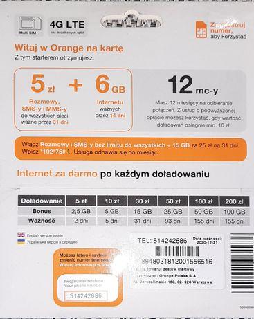 Zloty numer Orange 514.242.686