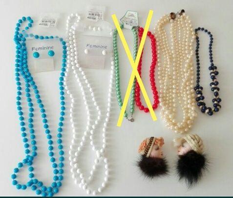 Brincos, pulseiras, anéis, pregadeiras e colares vintage