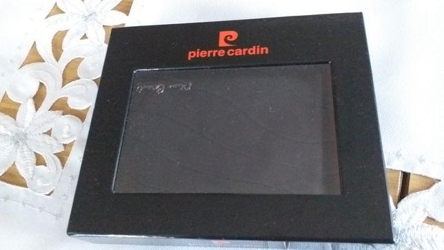 Nowy czarny portfel męski pierre cardin