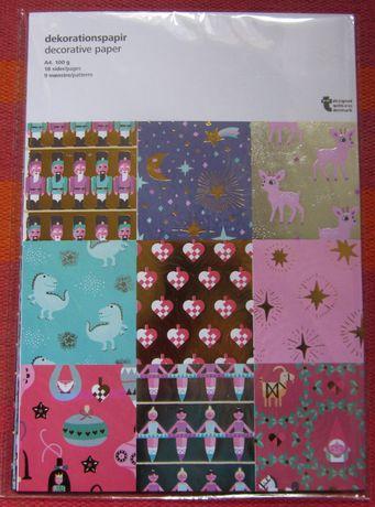 Papel decorativo A4 - 9 padrões