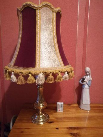 Stara mosiężna lampa na biurko, sypialnia ,komoda tanio