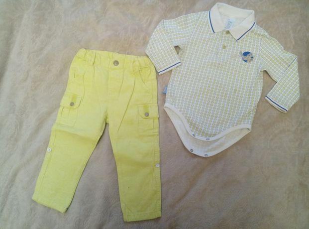 Детский костюм,брюки, боди, человечек, конверт от 6м до 86 см