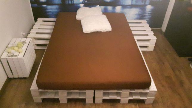 Łóżko z palet GRATIS - nowy materac 140x200cm !