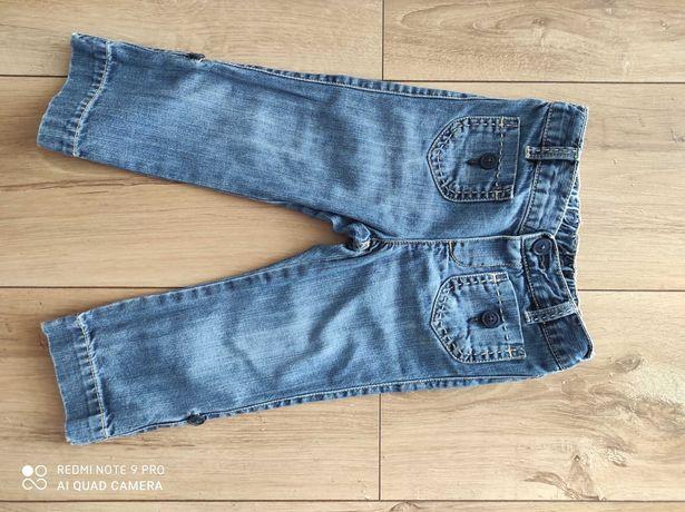 Spodnie, spodenki z miękkiego jeansu dla dziewczynki 2 lata