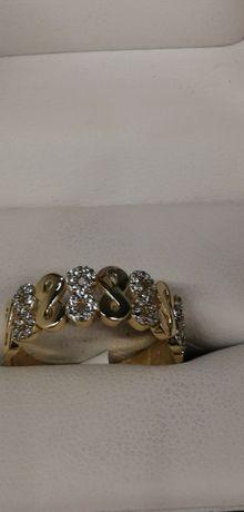złoty pierścionek nieskończoność cudny zapraszam